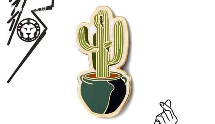GS-JJ Succulents Cactus Custom Enamel Pins 1.5″