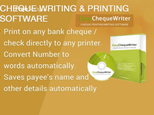 cheque Printing software, cheque print, cheque printer, check writer