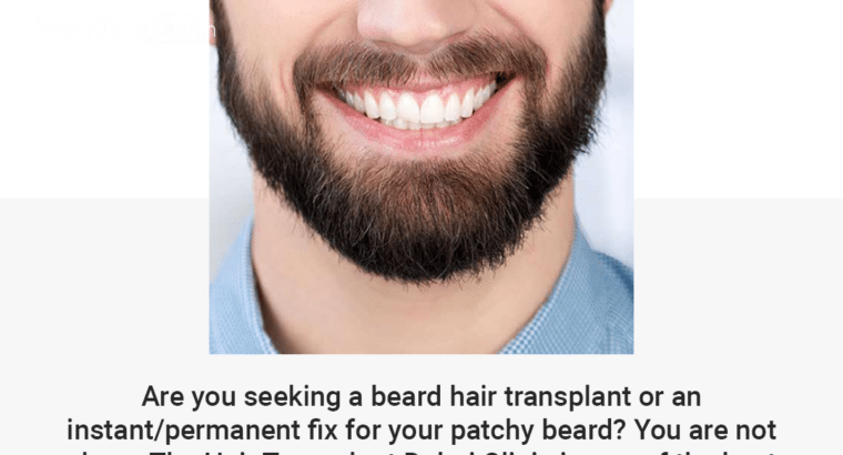 Beard Hair Transplant in Dubai UAE-Fue Hair Transplant Abu Dhabi