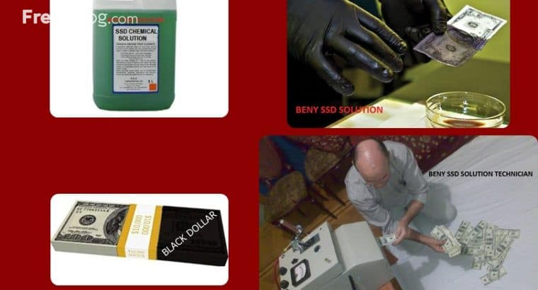 SSD SOLUTION CHEMICAL CLEANING BLACK CURRENCY