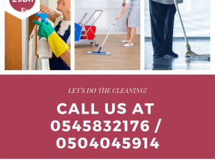 Cleaning Service Dh25/hr / Call 0545832176