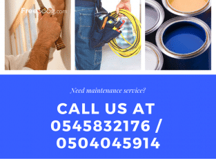 Maintenance Service For Villa and Flat – Call 0545832176