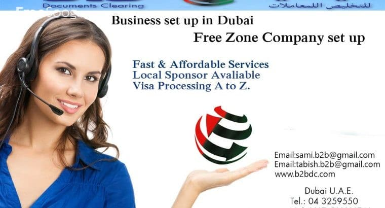 Business Setup, Company Formation, Visa Processing, New / Renew Trade License, PRO Services in Dubai