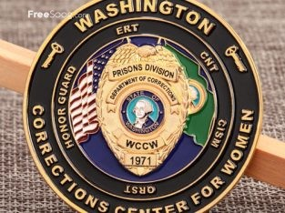 Cheap Challenge Coins | Department of Corrections Challenge Coins