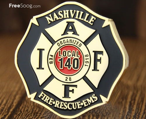 Nashville Fire Department Challenge Coins