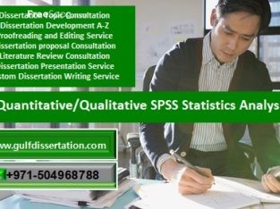 SPSS Statistics Analysis Help in Muscat, Oman
