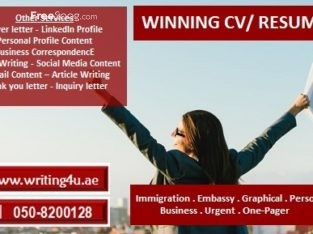 winning cv writing in muscat oman