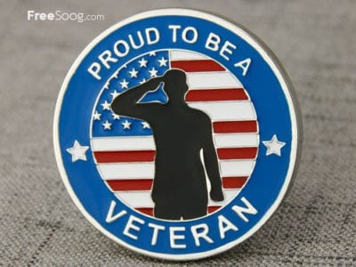 Military Coins | Proud To Be A Veteran Challenge Coins